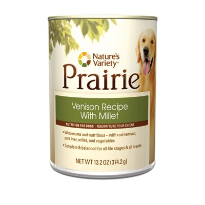 Prairie Venison Recipe with Millet Canned Dog Food (13.2-oz, case of 12)