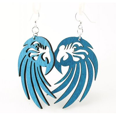 Green Tree Jewelry Parrot Head Earrings