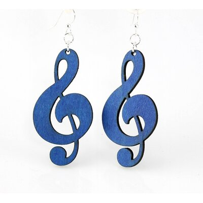 Green Tree Jewelry Treble Clefs Earrings