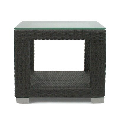 Patio Heaven Signature End Table with Tempered Glass Top