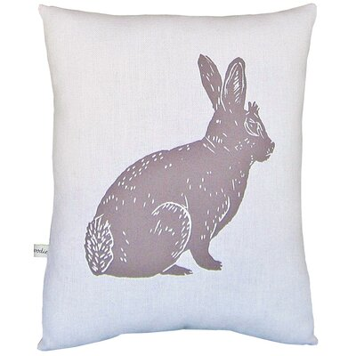 Artgoodies Bunny Block Print Squillow Accent Pillow