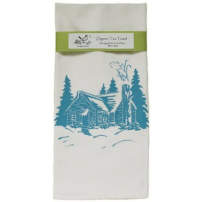 Artgoodies Organic Cabin Block Print Tea Towel