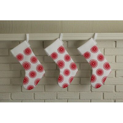 Artgoodies Doily Block Print Stocking