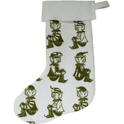 Artgoodies Elf Block Print Stocking