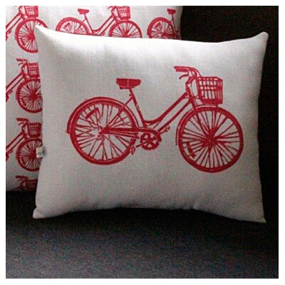 Artgoodies Bike Block Print Squillow Accent Pillow