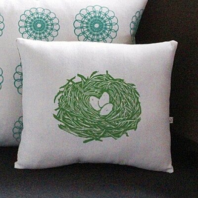 Artgoodies Nest Block Print Squillow Accent Pillow