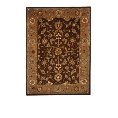 Liberty Oriental Rugs Tempest Dark Brown/Light Brown Rug