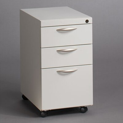 Great Openings Mobile Pedestal with Two Box Drawers and One File Drawer