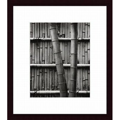Barewalls Bamboo and Wall Wood Framed Art Print