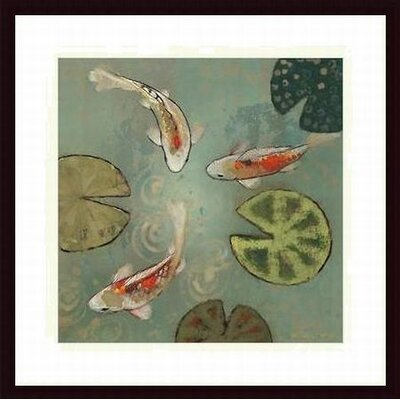 Barewalls Floating Motion II Wood Framed Art Print