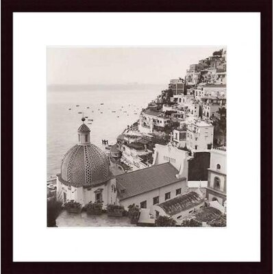 Barewalls Positano Vista Wood Framed Art Print