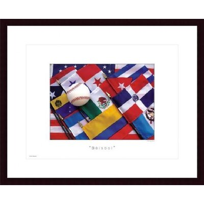 Barewalls Beisbol Wood Framed Art Print