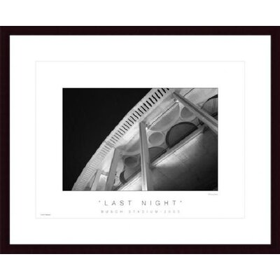 Last Night Wood Framed Art Print
