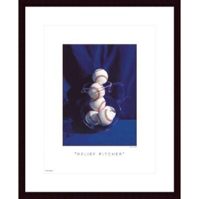 Relief Pitcher Wood Framed Art Print