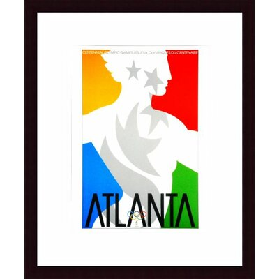 Barewalls Atlanta 1996 Wood Framed Art Print