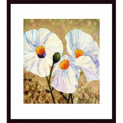 Barewalls Paper Whites Wood Framed Art Print