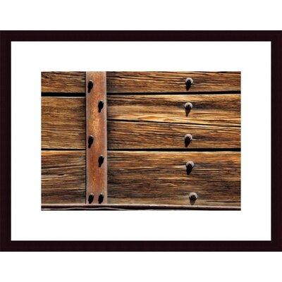 Barewalls Metal, Wood and Nuts Framed Art Print