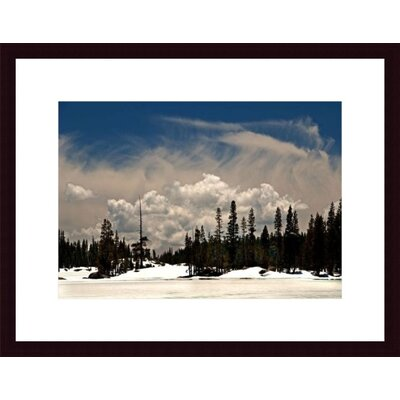 Barewalls Clouds and Snow Wood Framed Art Print