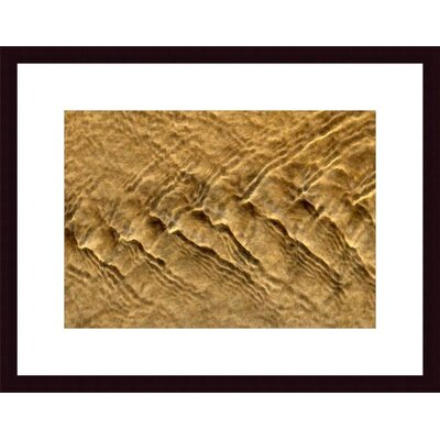 Chevron Ripples Wood Framed Art Print