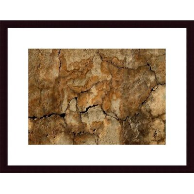 Barewalls Cracked Wall Abstract Wood Framed Art Print