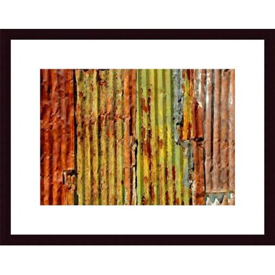 Corrugated Metal Abstract Wood Framed Art Print