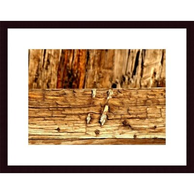Wood Abstract Wood Framed Art Print