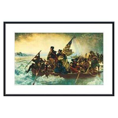 Washington Crossing the Delaware by Emanuel Gottlieb Leutze Metal Framed Art Print