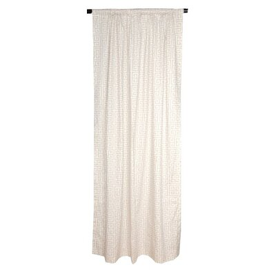 Elisabeth Michael Greek Key Cotton Curtain Single Panel
