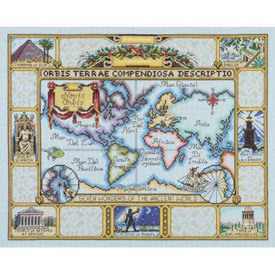 Janlynn Wonders of the Ancient World Map Counted Cross Stitch