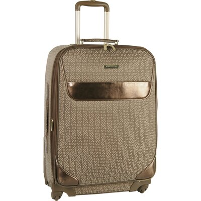 "Anne Klein Signature Jacquard 28"" Expandable Spinner Suitcase"