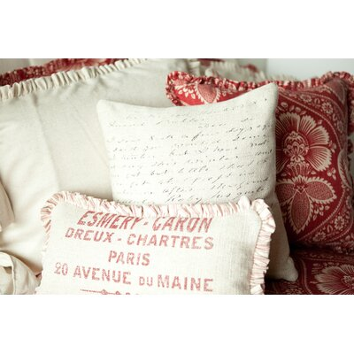 French Laundry Home Artisan Script Pillow