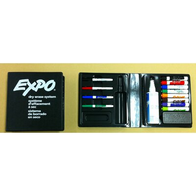 Peter Pepper 12 Dry-Erase Marking Pens, Eraser, and Board Cleaner