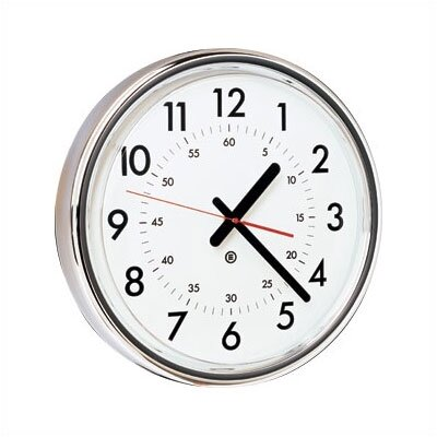 "Peter Pepper 16"" Diameter Wall Clock with Acrylic Cover"