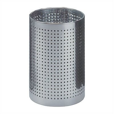 Peter Pepper Cylindrical Steel Wastebasket with Square Perforated Holes