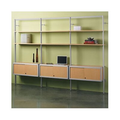 "Peter Pepper Envision® 84"" H 1 Section/Starter Section Storage System with 1 Credenza and 2 Shelves"