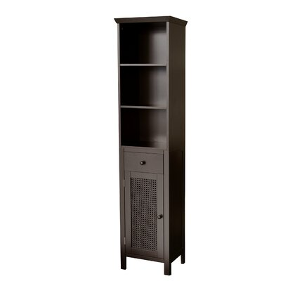 Elegant Home Fashions Savannah Linen Tower in Dark Espresso