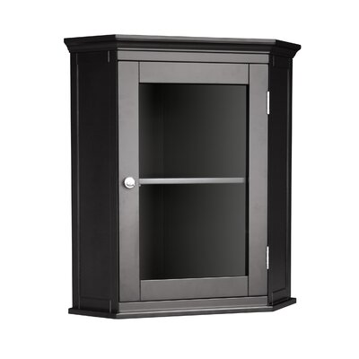 Elegant Home Fashions Madison Avenue Dark Corner Wall Cabinet
