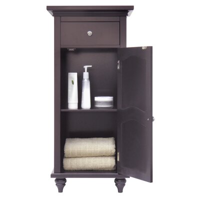 Elegant Home Fashions Versailles Floor Cabinet with 1 Door and 1 Drawer
