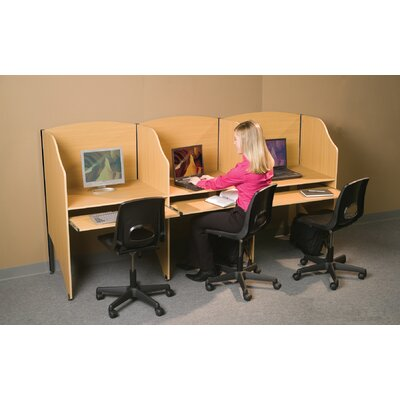Balt Deluxe Teak Laminate Study Carrel Add On