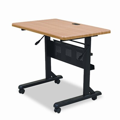 Balt Flipper Training Table, Rectangular, 36w x 24d x 29-1/2h, Teak