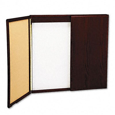 Balt Wood Conference Room Cabinet, Dry Erase/Cork Boards, 48 x 5 x 48, Mahogany