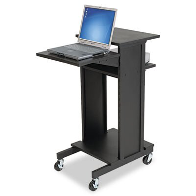 Balt Three Shelf Presentation Cart, Black