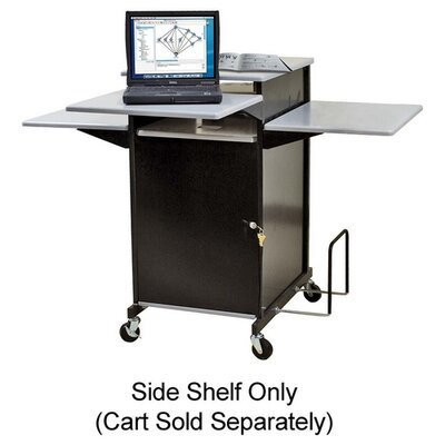 "Balt Presentation Cart, w/ Optional Shelf, 18""x18""x3/4"", Gray"