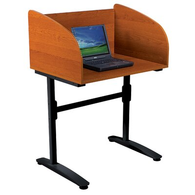 Balt Black Cherry Lumina Laminate Study Carrel Desk