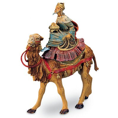 "Fontanini 5"" Scale 3 Kings on Camels Figurine Set"
