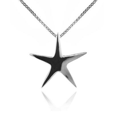 Sterling Silver 5-Pointed Star Pendant Necklace