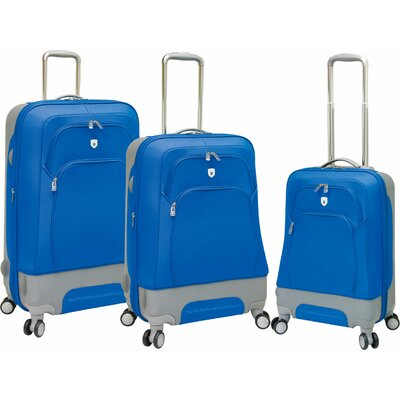 Travelers Polo & Racquet Club Barcelona EVA 3 Piece Expandable Hybrid Luggage Set