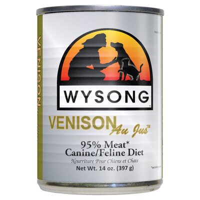 Wysong Au Jus™ Venison Canned Diet Wet Dog / Cat Food (14-oz, Case of 12)