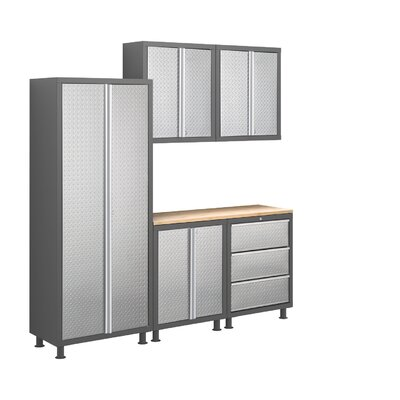 Bold Diamond Plate Series 6pc Cabinet Set