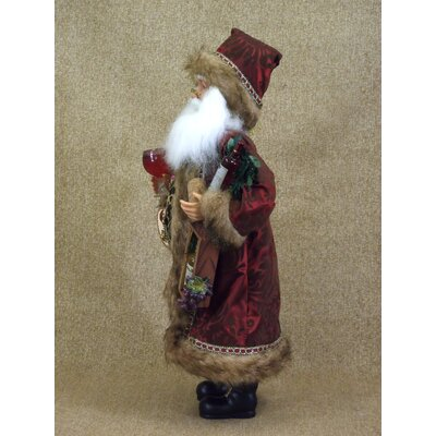 Karen Didion Originals Crakewood Wine and Friends Santa Claus Figurine